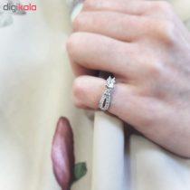انگشتر نقره زنانه کد R143P مجموعه 2 عددی