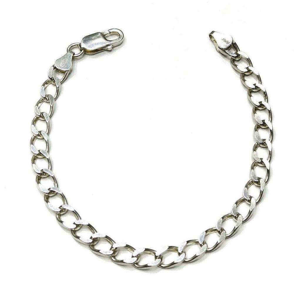 دستبند نقره مردانه کد 20