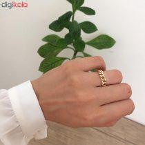 انگشتر طلا 18 عیار زنانه الماسین آذر کد Car02