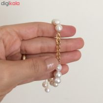 دستبند طلا 18 عیار زنانه الماسین آذر کد Car03