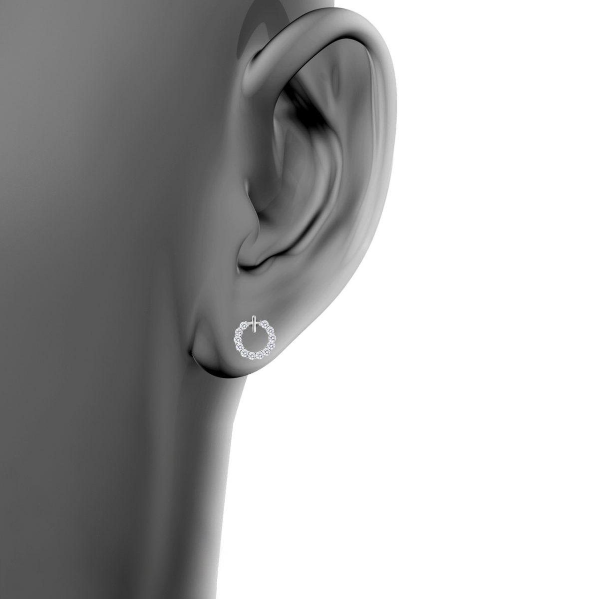 گوشواره نقره زنانه اقلیمه کد EN402