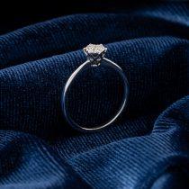 انگشتر طلا 18 عیار زنانه جواهری سون مدل 2244