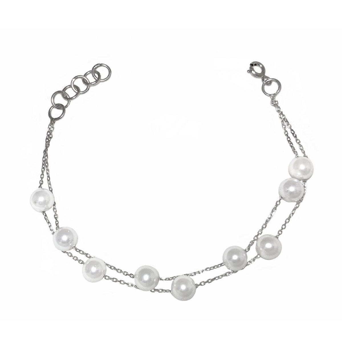 دستبند نقره ترنج مدل TSB18-W