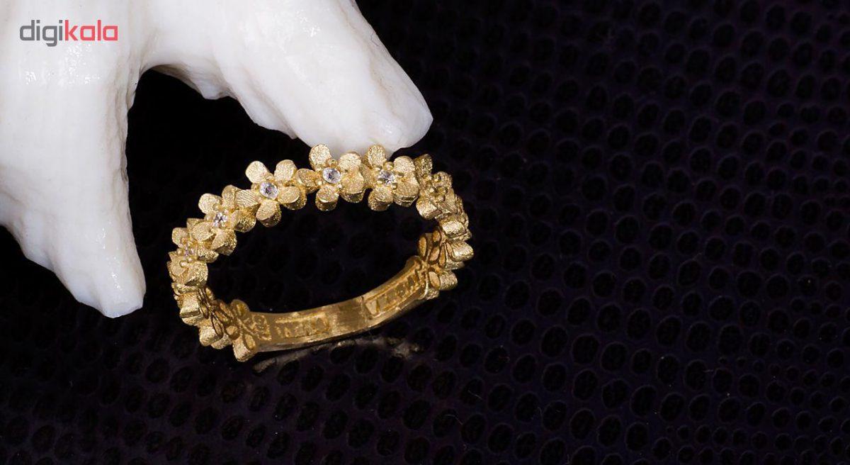 انگشتر طلا 18 عیار گالری مرجان مدل 0850