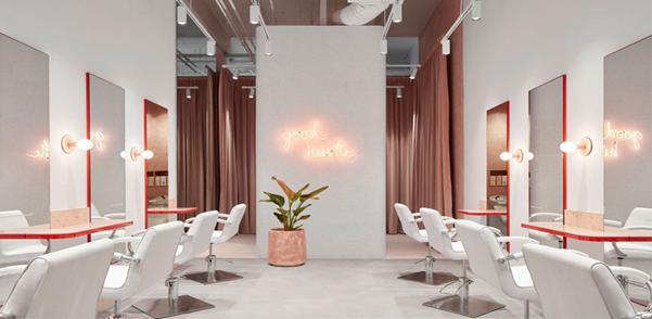 نورپردازی و آینه کاری سالن زیبایی